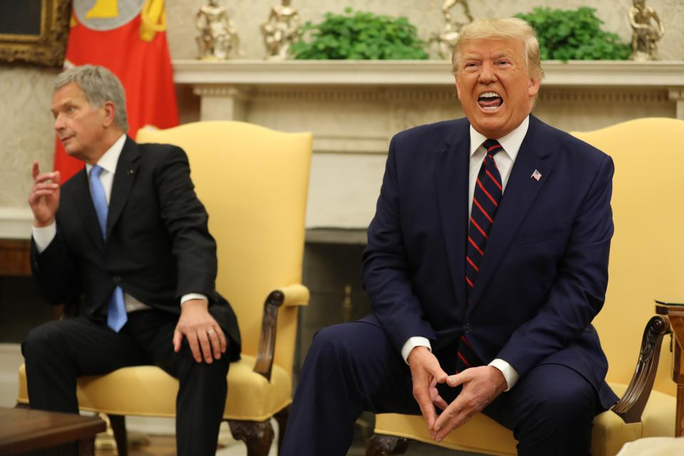 President Trump Hosts The President Of Finland At The White House