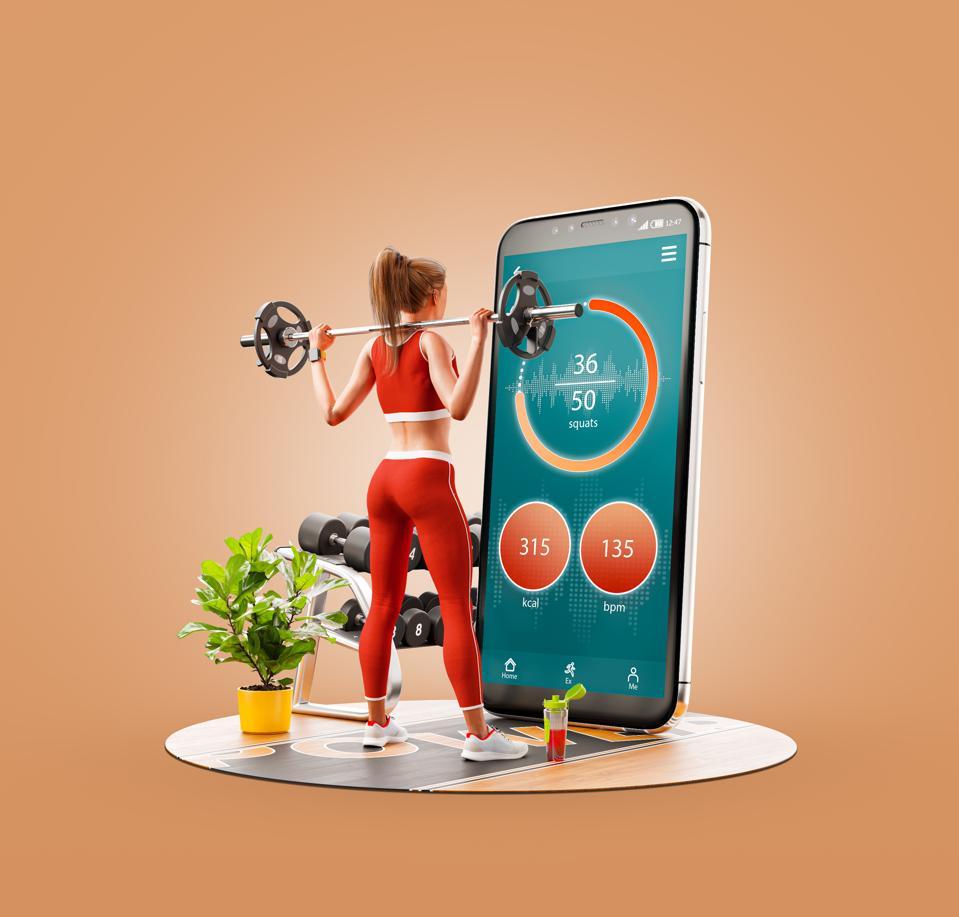3d illustration smart phone application