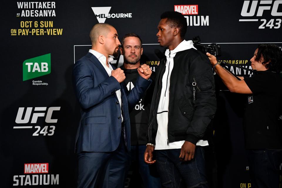 UFC 243 Whittaker v Adesanya: Ultimate Media Day