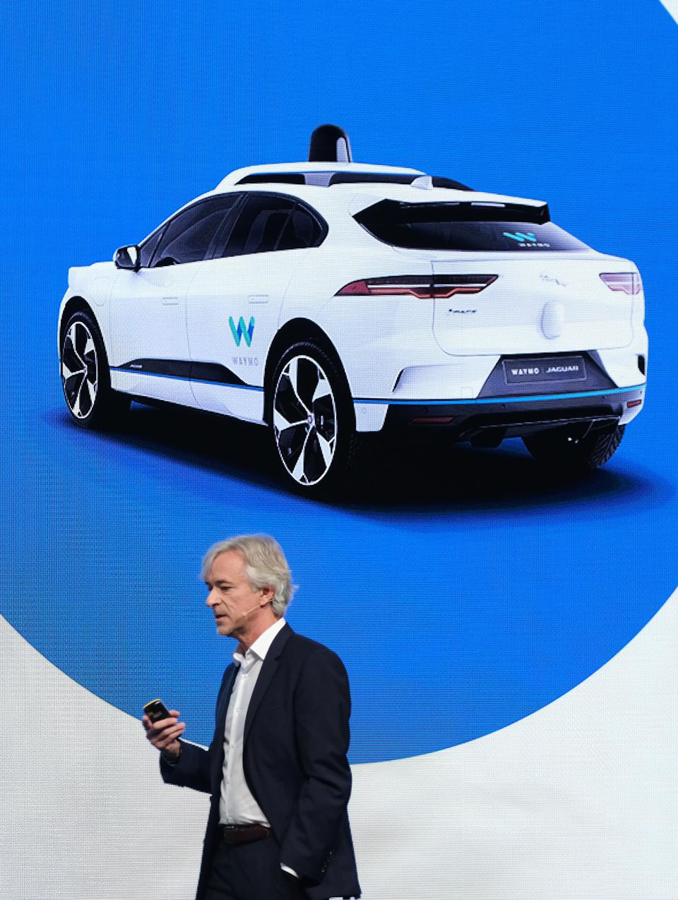 Waymo CEO John Krafcik at the opening event of the 2019 Frankfurt Auto Show in September 2019.