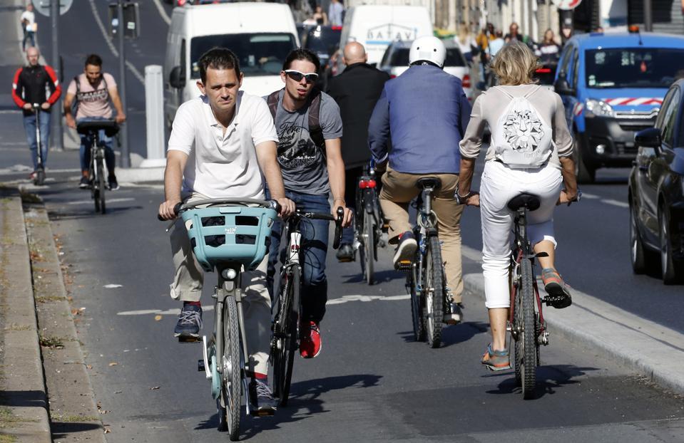 Vehicle Wheels During RATP strike In Paris