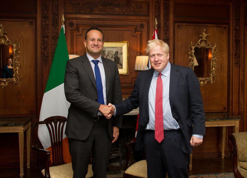 Boris Johnson Meets Irish Taoiseach To Discuss Brexit Deal