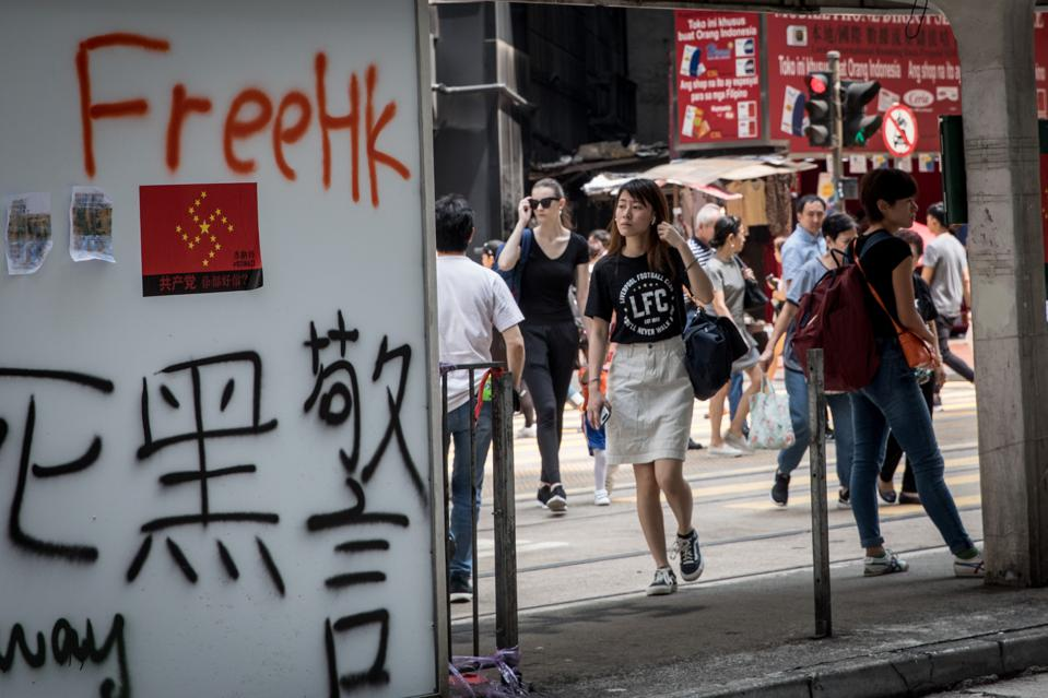 Hong Kong Economy Suffers As Anti-Government Protests Hit 100 Days