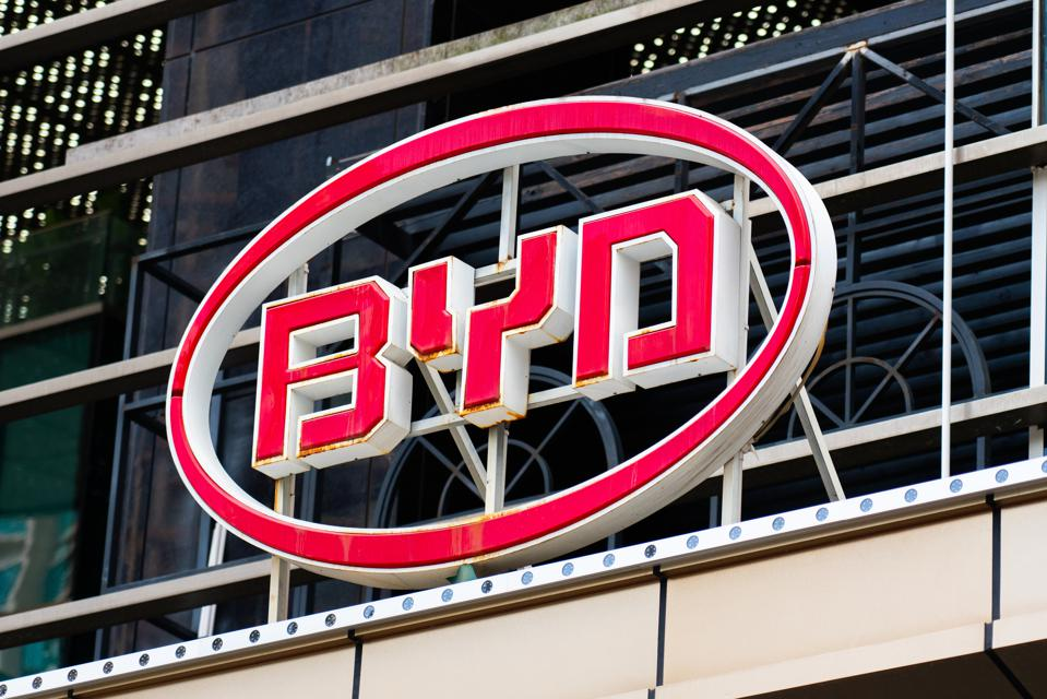 Chinese automobile and rechargeable battery producer, BYD...