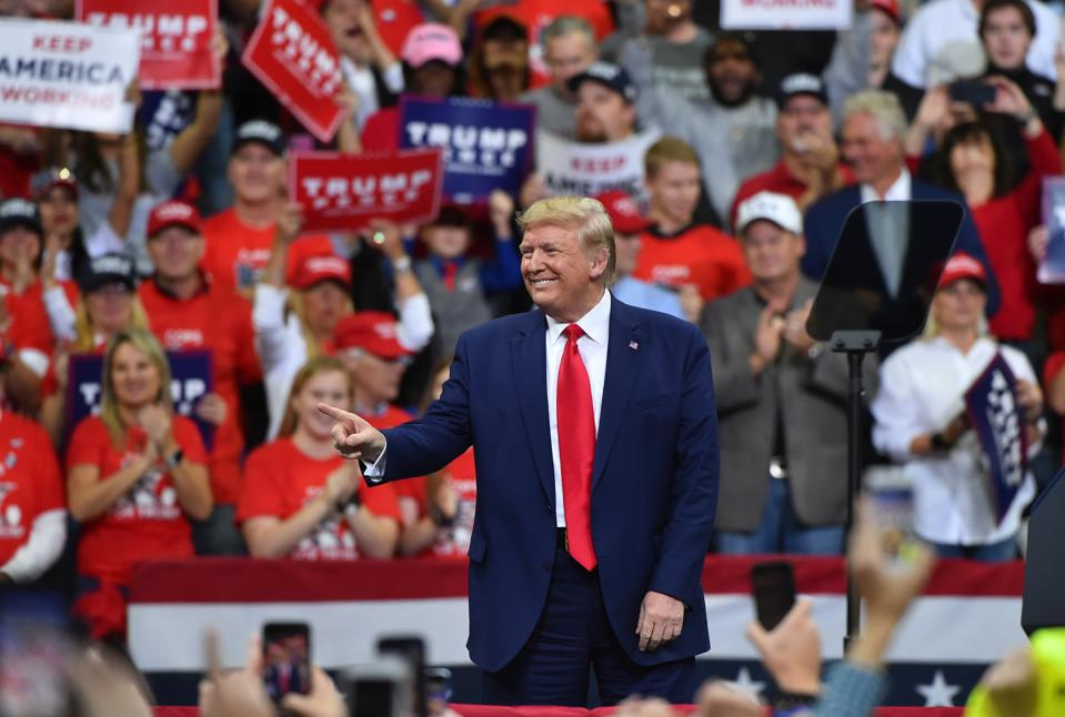 President Donald Trump holds campaign rally in Minneapolis, MN.