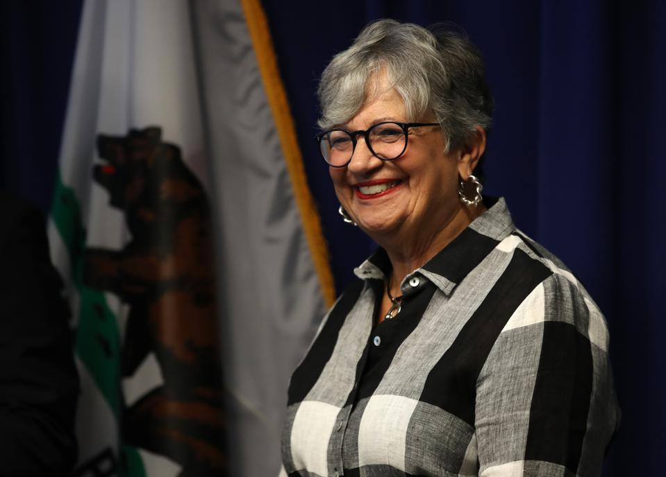 California Air Resources Board Chair Mary Nichols in a 2019 file photo by Justin Sullivan/Getty Images.