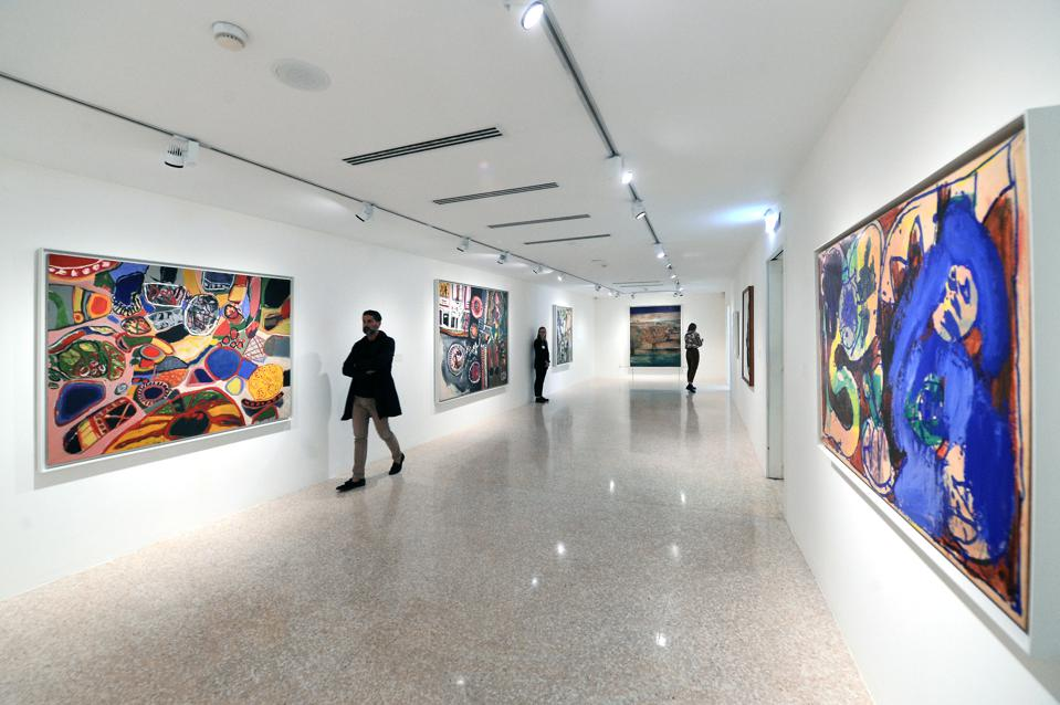 Exhibition Opening ″Peggy Guggenheim l'Ultima Dogaressa″ VENICE, ITALY - SEPTEMBER 19: General view of the exhibition ″Peggy Guggenheim - L'Ultima Dogaressa″ at Peggy Guggenheim Museum on September 19, 2019 in Venice, Italy. (Photo by Roberto Serra - Iguana Press/Getty Images)