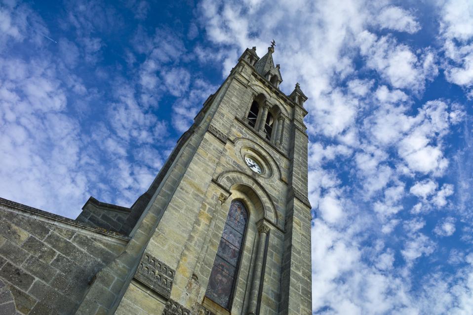 Church in Pomerol, Bordeaux, France