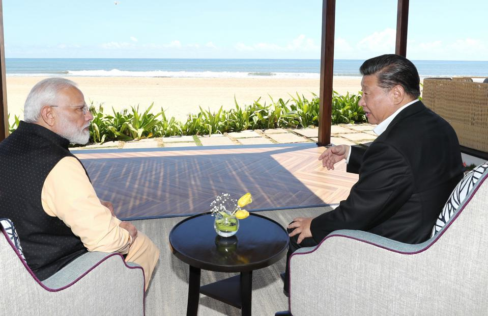 INDIA-CHENNAI-CHINA-XI JINPING-NARENDRA MODI-MEETING
