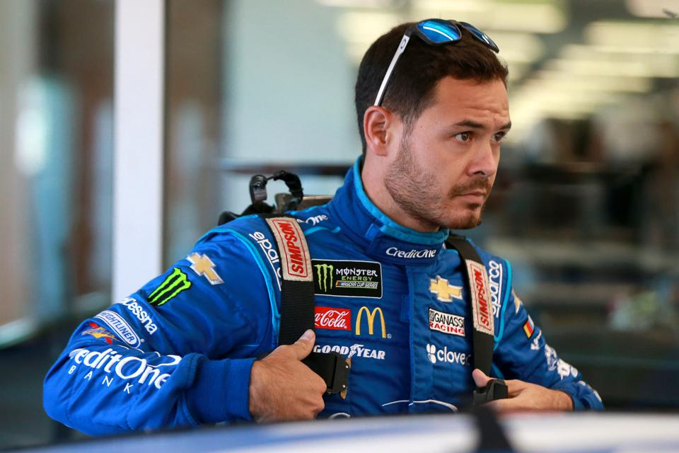 Monster Energy NASCAR Cup Series Federated Auto Parts 400 - Practice. Kyle Larson Nascar driver.