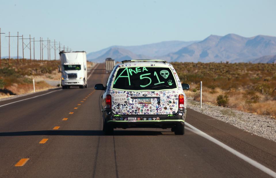 Revellers Descend On Nevada Desert For ″Storm Area 51″ Gathering