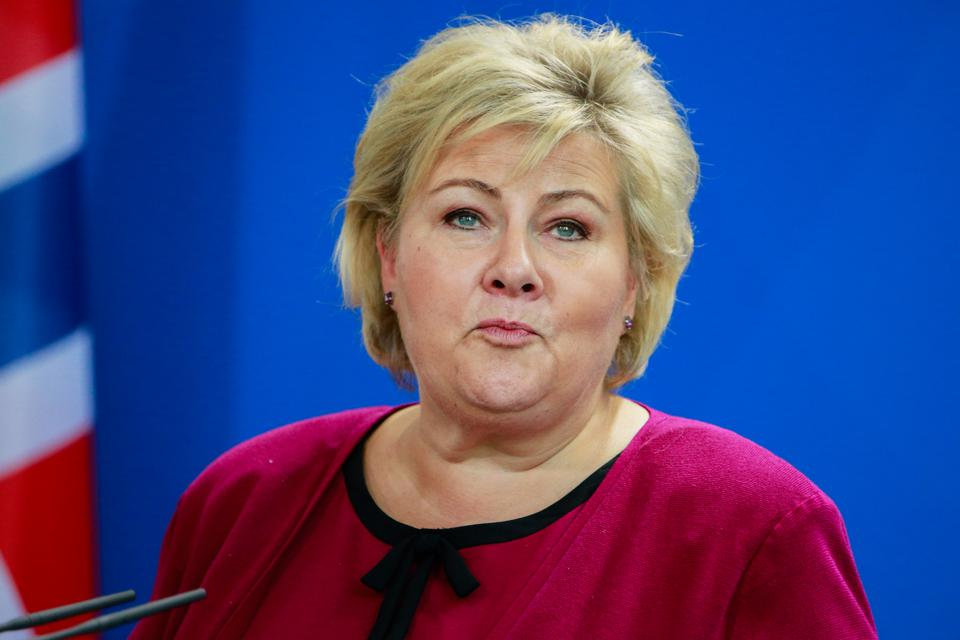 The Prime Minister of Norway, Erna Solberg