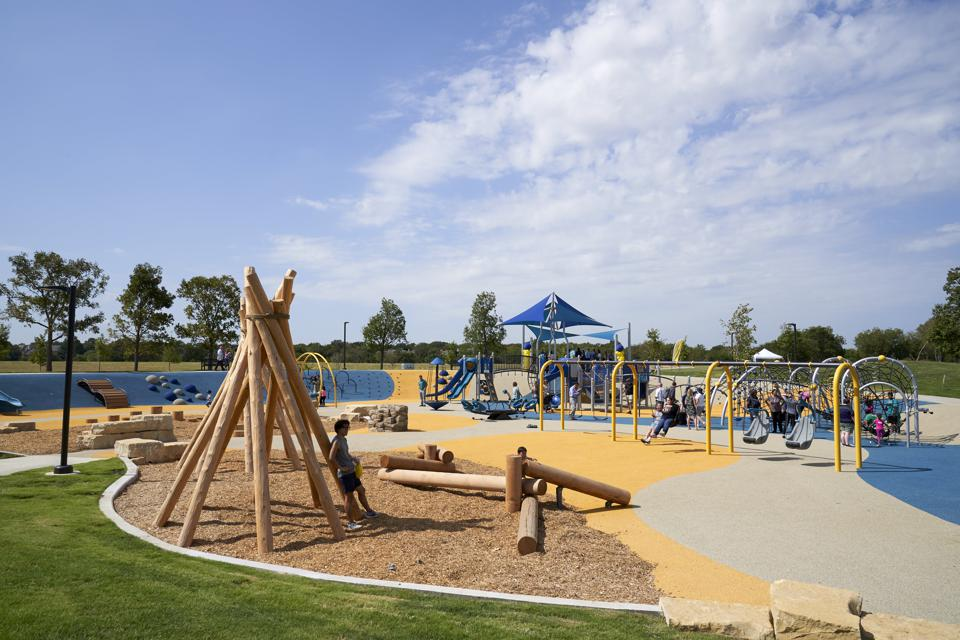 Plano, Texas, ranks as the No. 1 city for a staycation, a new WalletHub analysis shows. Last fall, the city opened a playground that allows children with and without disabilities to play together in a variety of outdoor experiences. (Photo: Cooper Neill/Getty Images for Liberty Mutual Insurance)