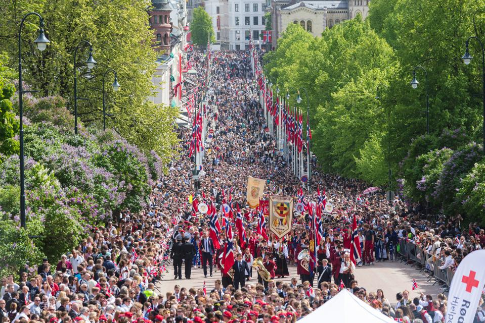 The Norwegian Constitution Day celebrations in Oslo, Norway.