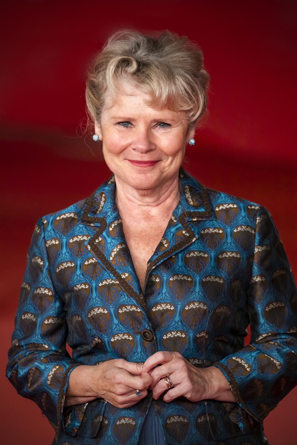 Imelda Staunton attends the '' Downton Abbey '' red carpet...