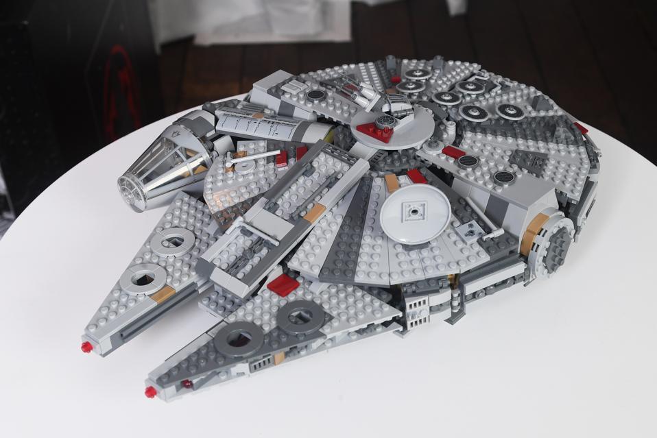 A Lego Star Wars Millennium Falcon.