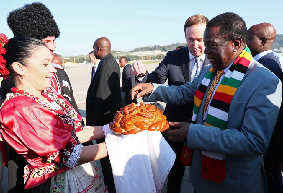 Zimbabwe's President Mnangagwa arrives in Sochi for Russia-Africa Economic Forum