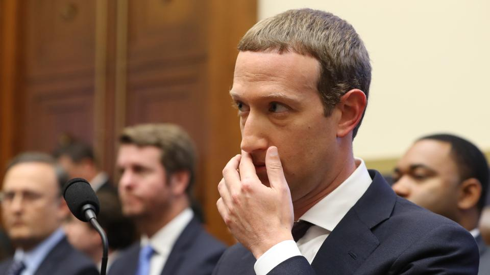 Facebook CEO Mark Zuckerberg testifies before the House Financial Services Committee.