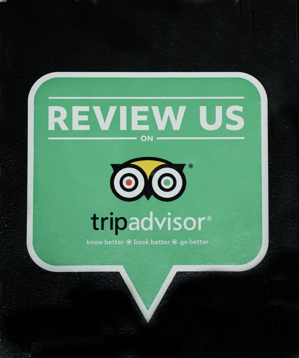 TripAdvisor sign on a Nashville, Tennessee, business