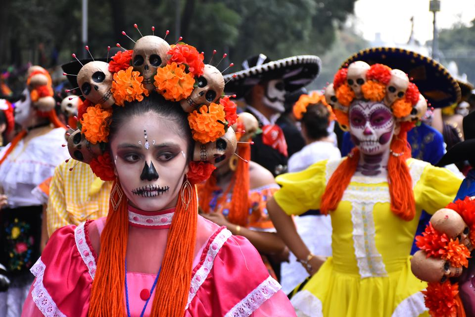 Day Of The Dead  With Catrinas Parade