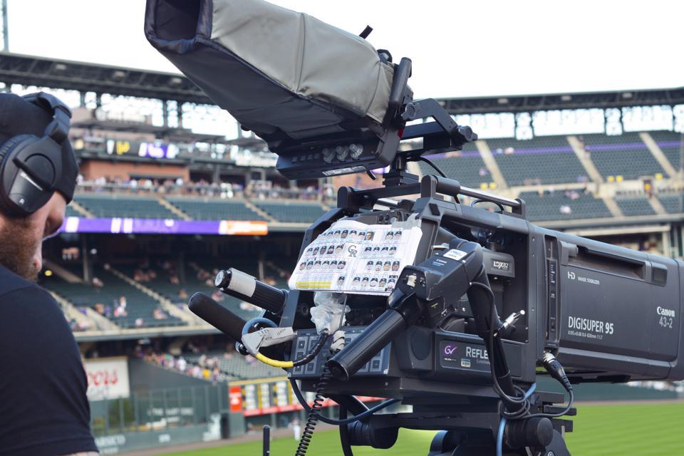 Television cameraman in Denver, Colorado