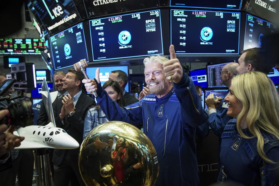 Sir Richard Branson Rings Opening Bell As Virgin Galactic Holdings Joins NYSE