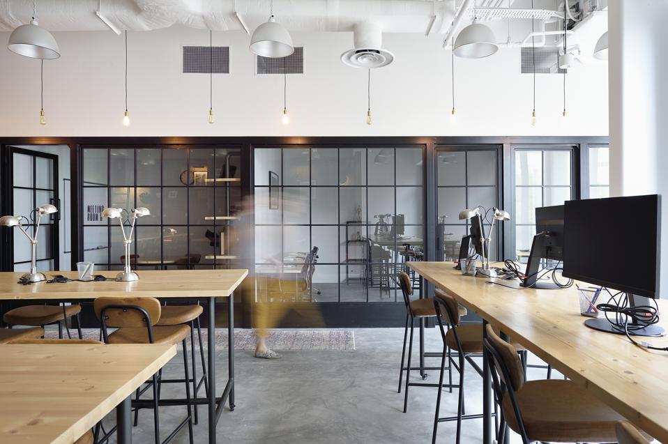 Empty modern co-working space