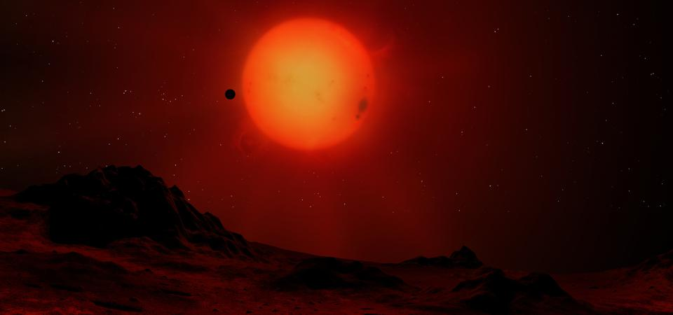 """A """"quiet"""" red dwarf star called  GJ 887, just 11 light-years from Earth, could be the best star by far to look for exoplanets with atmospheres like our own."""
