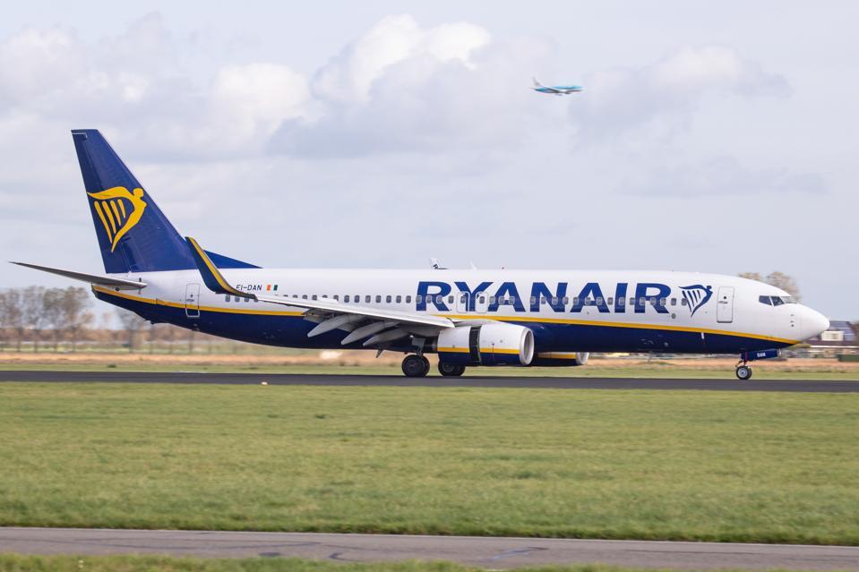 Ryanair Boeing 737 Landing At Amsterdam