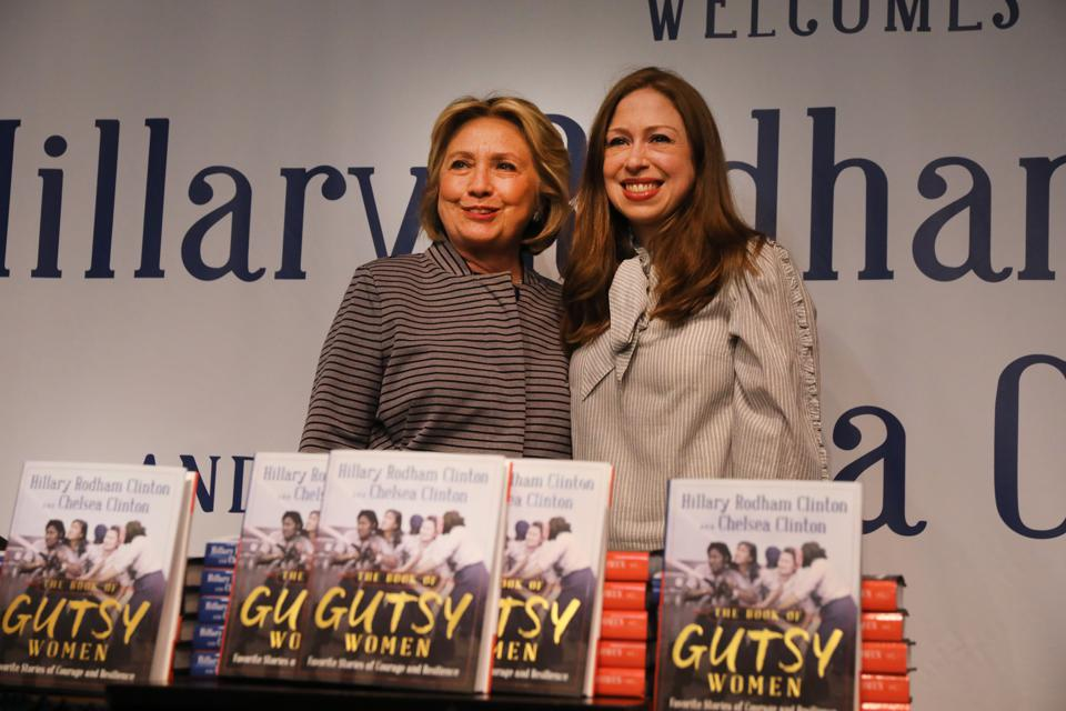 Hillary And Chelsea Clinton Promote Their New Book ″The Book of Gutsy Women″ In New York