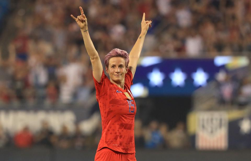 Megan Rapinoe of United States during an October 3 game against South Korea in Charlotte, North Carolina.