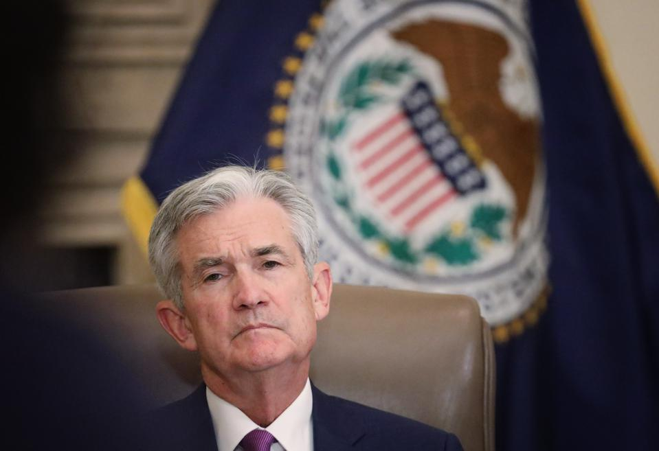 Federal Reserve Board Chairman Jerome Powell Speaks At ″Fed Listens″ Event