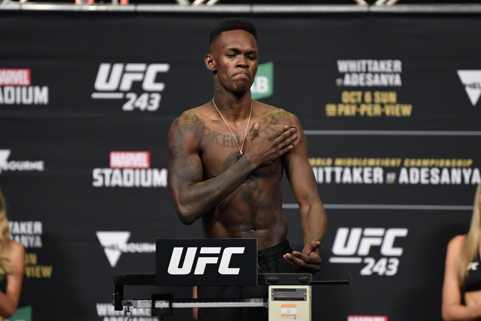 UFC 243 Whittaker v Adesanya: Weigh-Ins