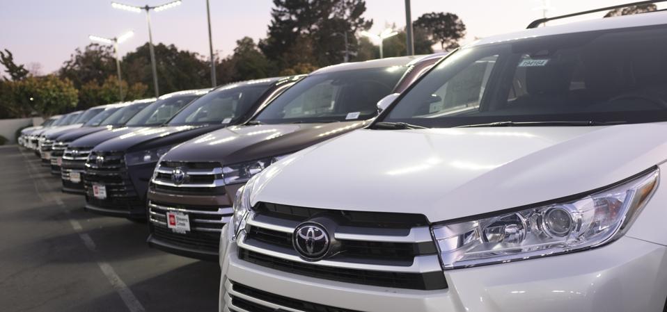 SUVs outdoors, at a dealership in San Jose, Calif.