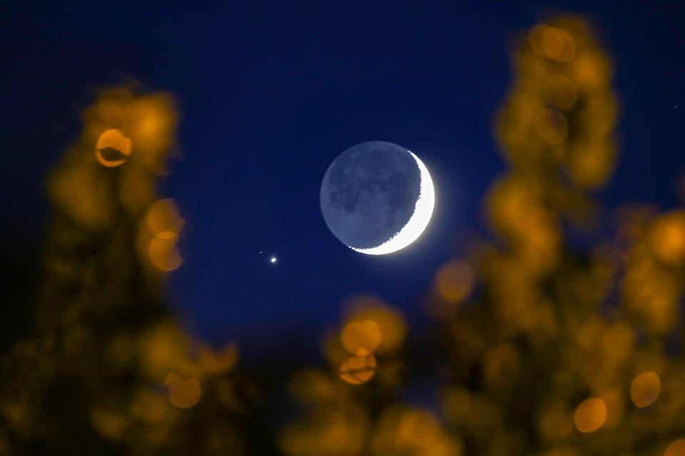 Una falce di luna e