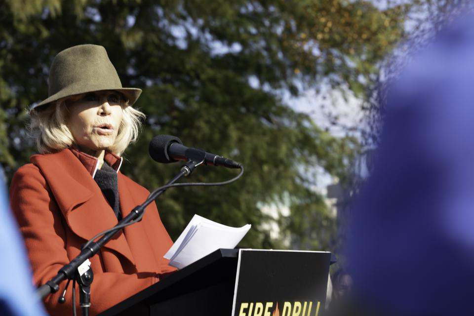 Jane Fonda speaks out on Climate Crisis