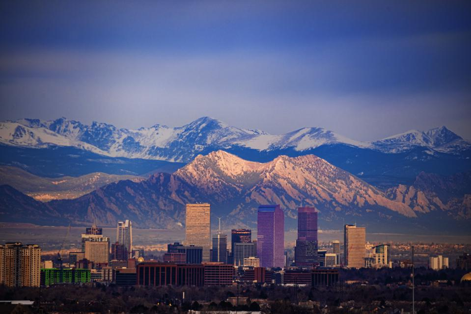 Denver and the Flatirons