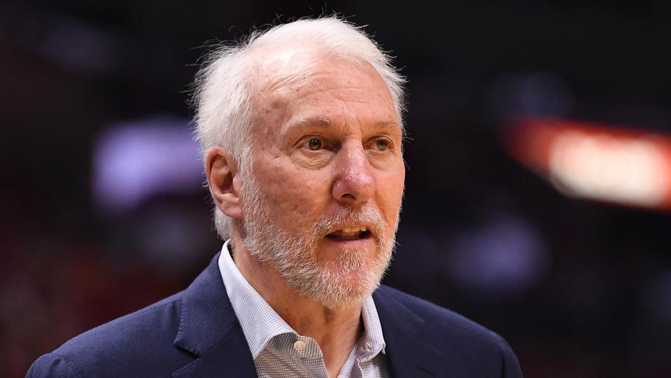 San Antionio Spurs head coach Gregg Popovich