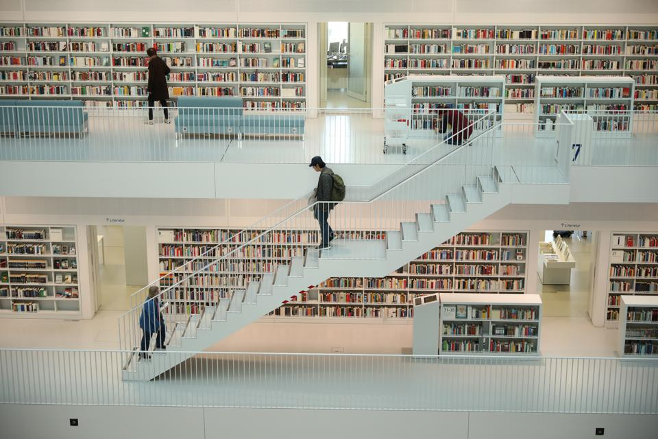 City Library Of Stuttgart, Germany