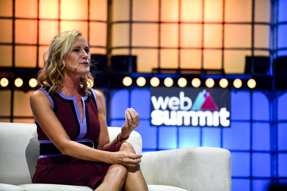 JPMorgan Chase CMO Kristin Lemkau speaking at Web Summit in November in Lisbon, Portugal.
