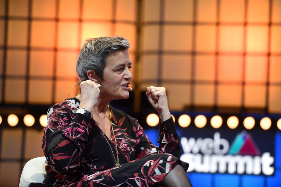 Si Margrethe Vestager, ang Komisyoner para sa Kumpetisyon ng EU, ay nagsalita ngayong linggo sa Web Summit
