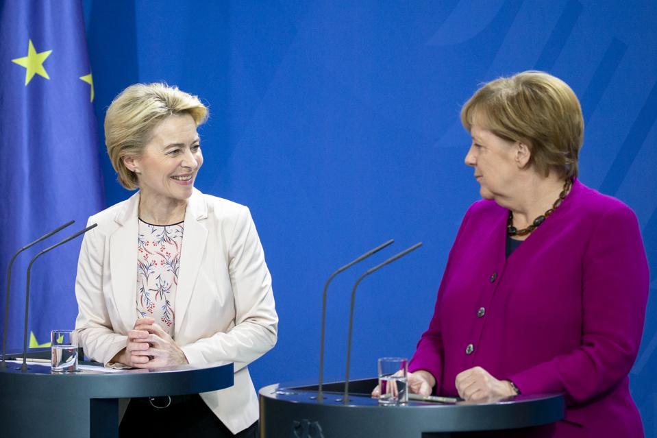 Merkel Meets With New EU Commission President Ursula von der Leyen