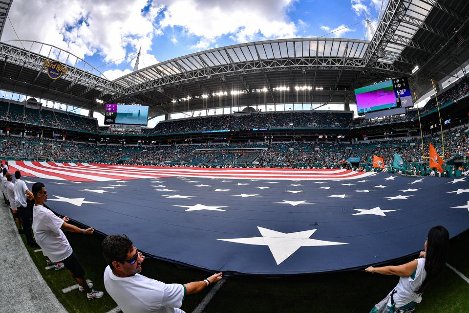 The Hard Rock Stadium could be the hub of an F1 race in 2021 if its plans stay on track. (Mark Brown/Getty Images)