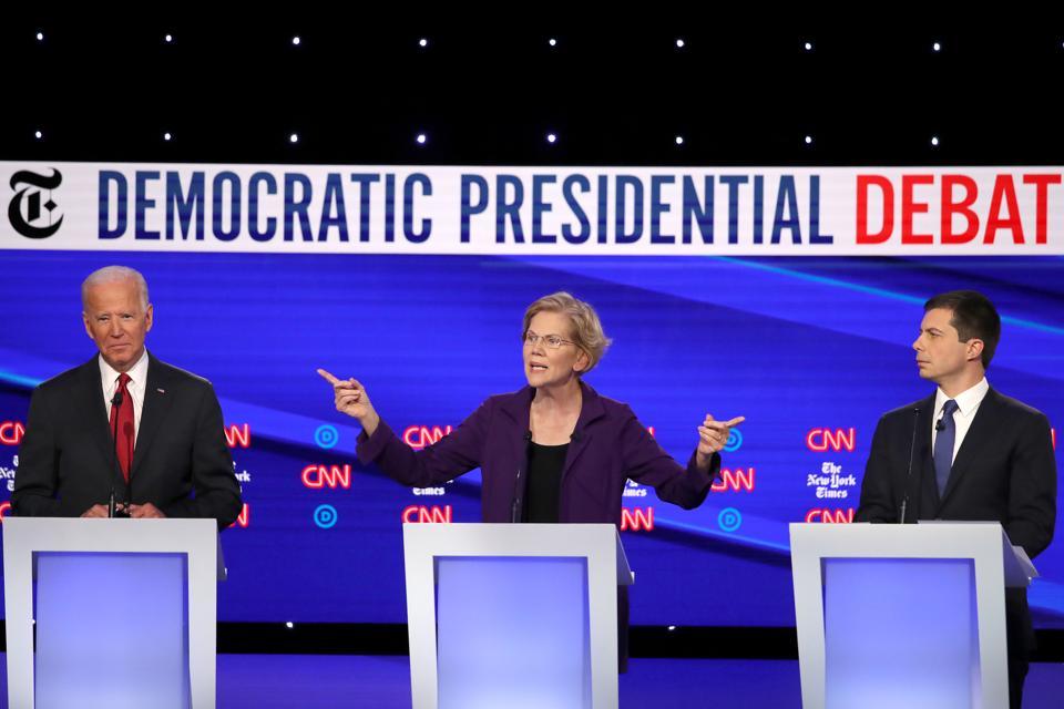 Democratic Debate: Elizabeth Warren Weathers Attacks As New Frontrunner, Stumbles On Healthcare Pledge