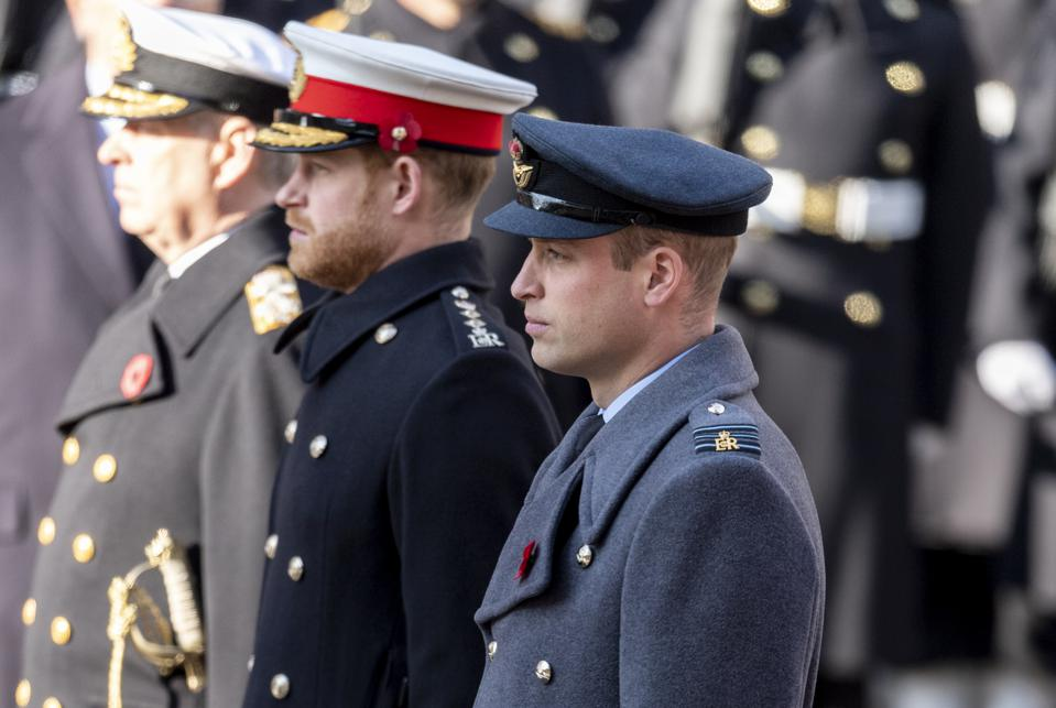 Kate, William, Meghan and Harry: Reunited For Remembrance Days, But Not Really 'Together'