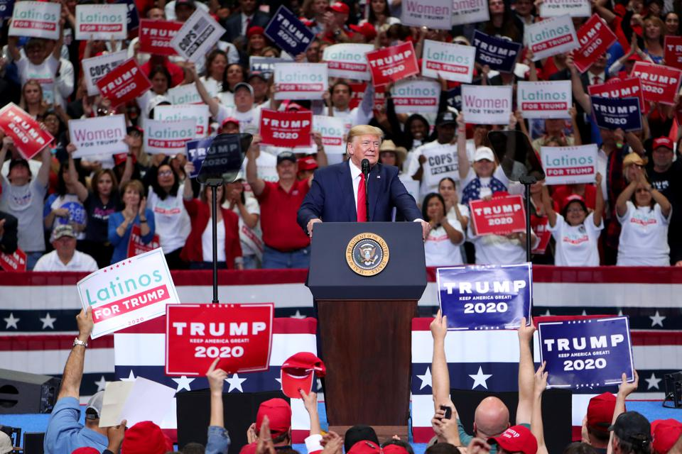 Donald Trump Holds ″Keep America Great″ Campaign Rally In Dallas
