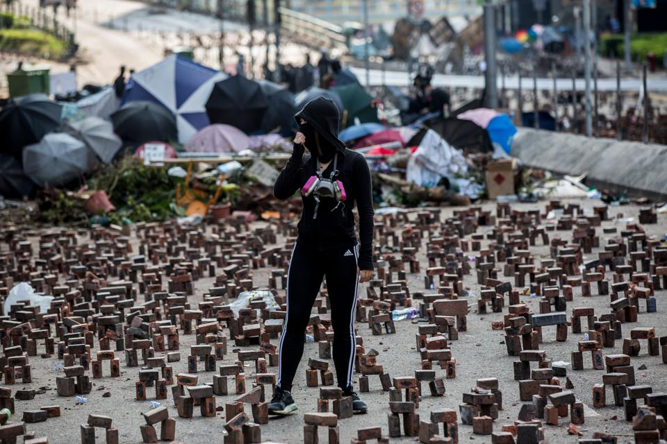Hong Kong's economic woes stem from unrelenting protests, the ongoing trade war between the U.S. and China and China's overall economic slowdown.