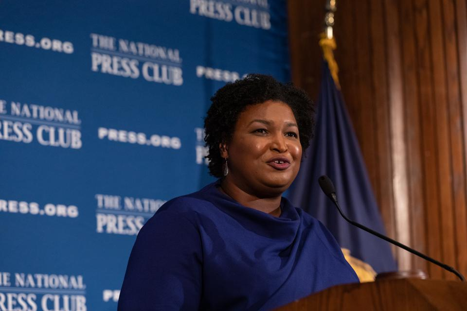 Stacey Abrams Speaks To The National Press Club For Headliners Luncheon