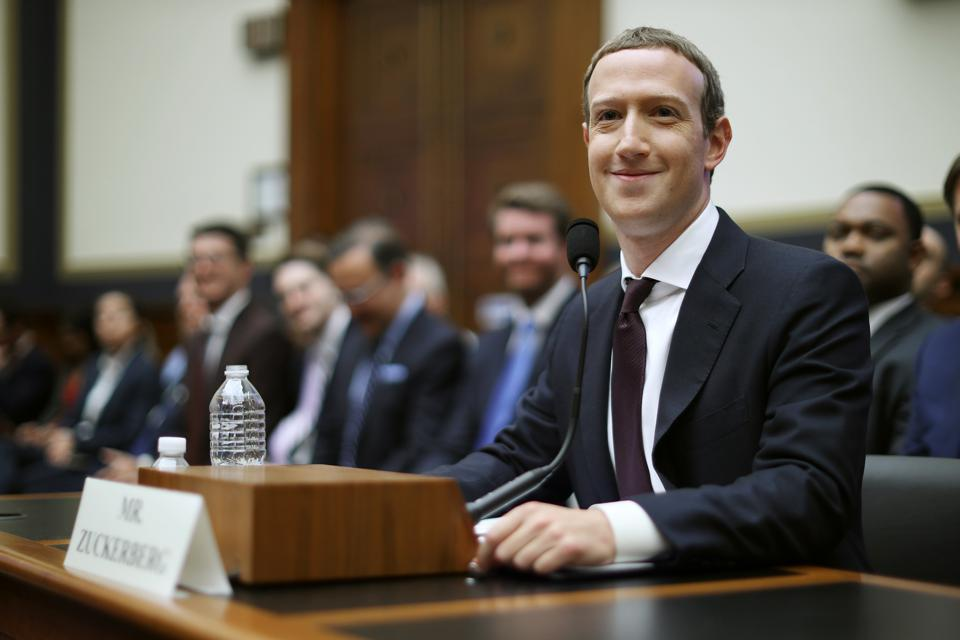 Facebook CEO Mark Zuckerberg testifies before Congress.