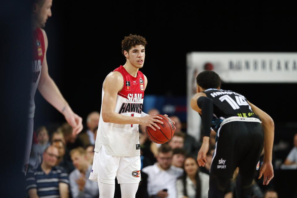 LaMelo Ball put forth an uneven performance in his team's loss to New Zealand. (Photo: Anthony Au-Yeung/Getty Images.)